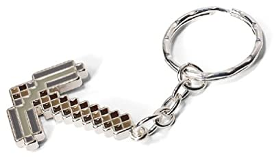 Minecraft Iron Pickaxe Keychain from MineCraft