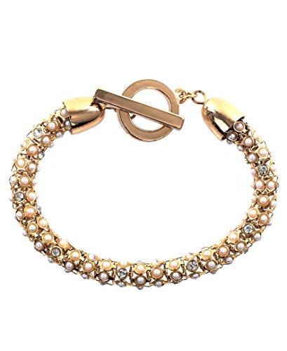 anne-klein-dore-tubulaire-pave-bracelet-avec-cristaux-transparents-de-40-cm