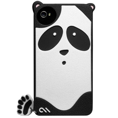 Case-Mate iPhone 4S / 4 CREATURES: Xing Panda Case, Black クリーチャーズ パンダ 星星 (シンシン) シリコン ケース CM016359