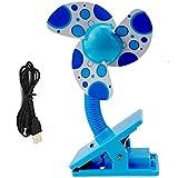 Clip On Baby Stroller Fan With Soft Foam Blade Portable Mini Travel/ Desk / Versatile Personal Fan Powered By...