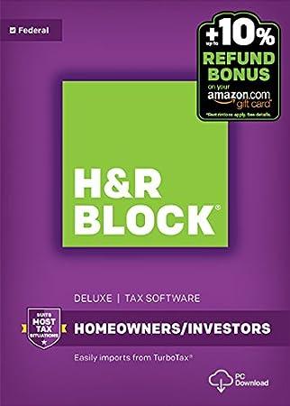 H&R Block Tax Software Deluxe 2016 Win + Refund Bonus Offer