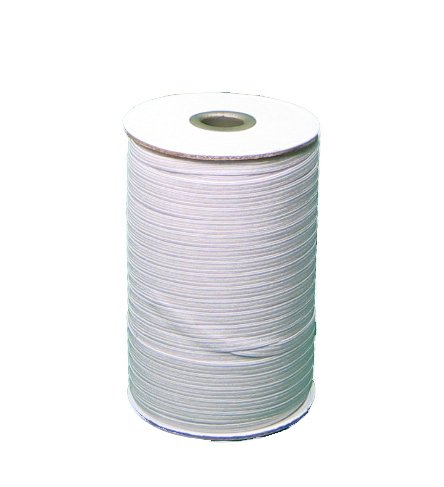 Braided Elastic 1/4'' Wide 144 Yards - White