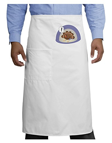 Escaping Turkey - Funny Thanksgiving Adult Bistro Apron - White - One-Size