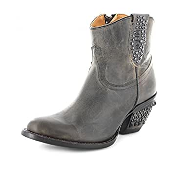 lucchese m4637 womens anthracite grey stud leather shortie