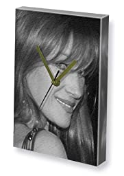 JANE SEYMOUR - Canvas Clock (LARGE A3 - Signed by the Artist) #js002