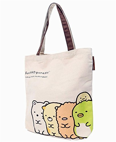 Sumikko gurashi outing / canvas big Tote / vertical tote bag corner gurashi (Vertical Tote (Brown))