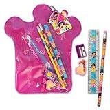 Disney Princess 7 Piece Stationery Set-study Kit