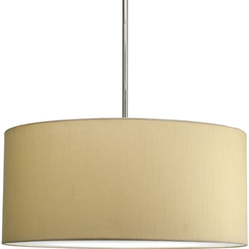 Progress Lighting P8825-01 Markor Modular Silken-Fabric Pendant Shade, Beige