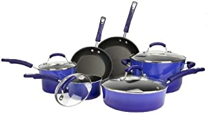 Brand New New Rachael Ray 10-Piece Kitchen NonStick Hard Enamel Cookware Set Pots