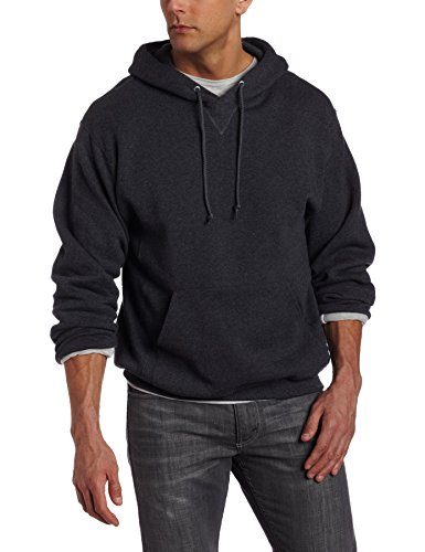 Russell-Athletic-Mens-Dri-Power-Hooded-Pullover-Fleece-Sweatshirt-Black-Heather-Medium