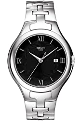 Tissot Womens T-Trend Black Dial Silver-tone Analog Watch T0822101105800