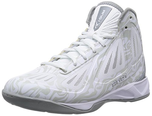 And1 Men's Xcelerate Mid Basketball White/Cement/Silver 9.5 D(M) US