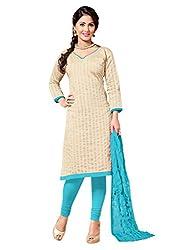 fabgruh Beige colour dress material