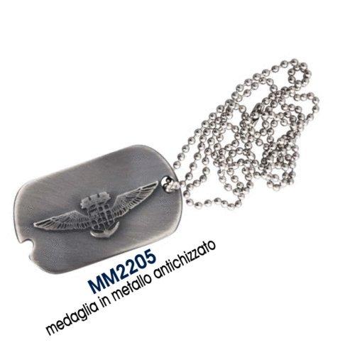 Giemme articoli promozionali - Collana E Piastrina Stemma Aviazione Navale Marina Militare Prodotto Ufficiale