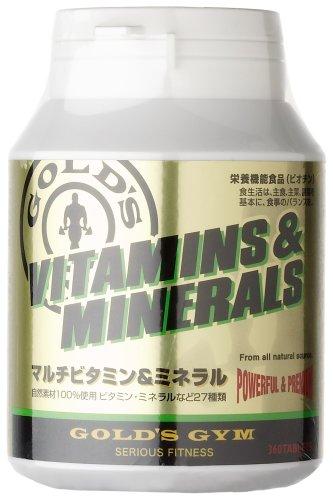 GOLD'S GYM(ゴールドジム)ビタミン&ミネラル 360粒