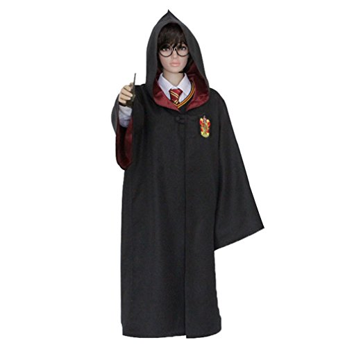 Shining Kids Girls Boys Harry Potter Costume Cosplay Robe+Wand