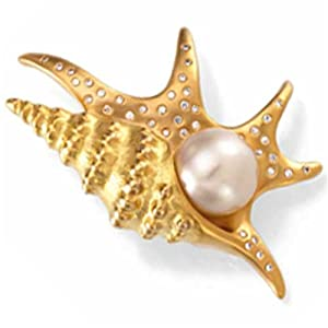Paspaley South Sea Cultured Pearl Pelican''s Foot Brooch