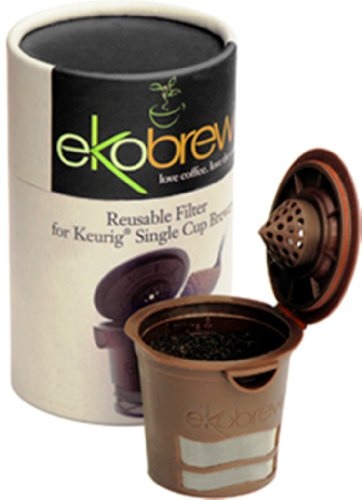 ekobrew Cup, Refillable Cup For Keurig K-Cup Brewers, Brown, 1-Count