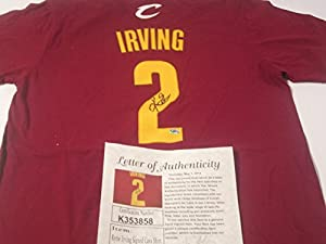 Kyrie Irving Cleveland Cavaliers Signed Autographed Jersey T-Shirt Authentic...