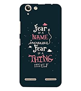LENOVO K5 PLUS FEAR OF NAME Back Cover by PRINTSWAG