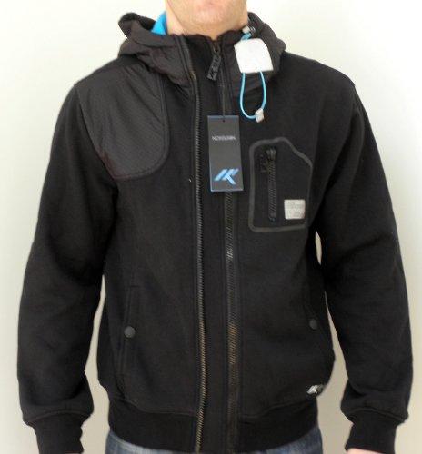 Nickelson Mens NMC270 Chett Lined Zipped Hoody Black Large