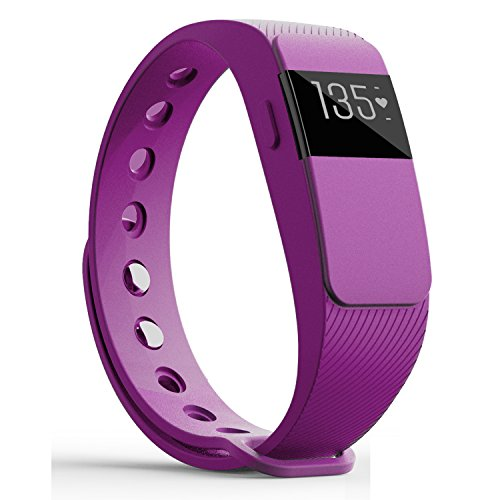 Heart Rate Monitor Fitness Trackers,007plus Bluetooth 4.0 Pedometers Sleep Monitor Activity Trackers for Android iOS Smartphone (Purple)