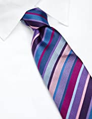 Sartorial Pure Silk Multi-Striped Tie