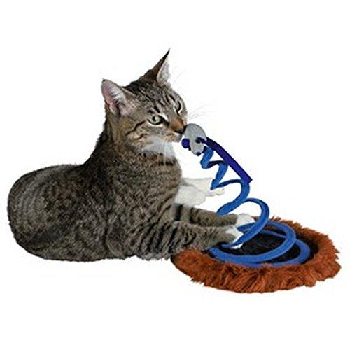 TRIXIE gioco gatto topo su molla in peluche con menta per gatti in omaggio