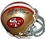 Carlton Williamson Autographed/Hand Signed San Francisco 49ers Mini Helmet with SB16/19 Champs Inscr