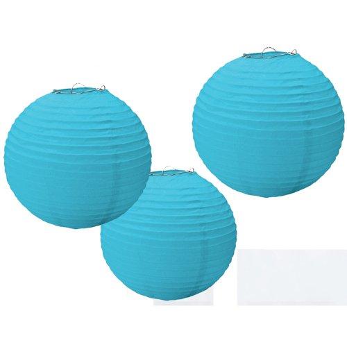 Amscan Blue Round Paper Lanterns (3)