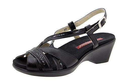 Scarpe donna comfort pelle Piesanto 2867 sandali soletta estraibile comfort larghezza speciale