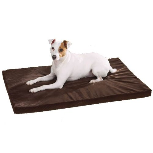 Slumber Pet Memory Foam Oval Dog Bed, 24-Inch, Chocolate