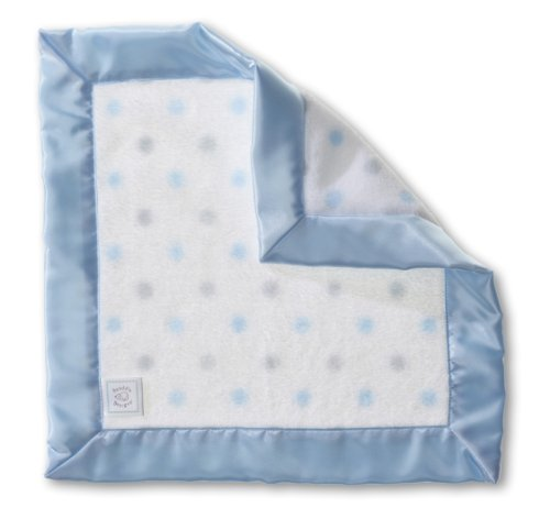 SwaddleDesigns Baby Lovie, Security Blankie in Sterling Dots, Pastel Blue