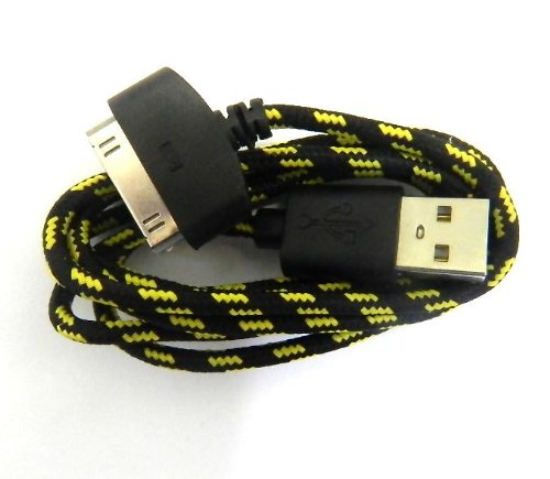 1M Black Strong Braided Usb Data Sync Charger Cable For Iphone 4 4S 3G 3Gs Ipad 2 Ipod