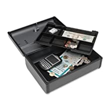 MMF Industries Steelmaster Premier Security Case with Keyed Lock, 4.125 x 8.5 x 11.625 Inches, Charcoal Grey (2217012G2)