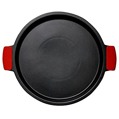 "SuperStone / 13"" Deep-Dish Non-Stick Pizza Stone with Easy-Grip Silicone Handles"