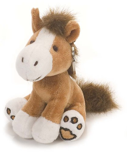 Imagen principal de Wild Republic 89621 - Llavero con forma de caballo de peluche (8 cm), color marrón