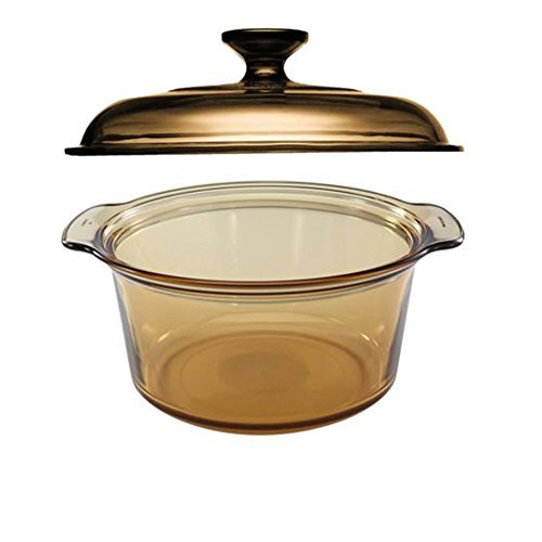 Visions 5L Round Dutch Oven With Glass Lid / Cover (Visions Cookware Lid compare prices)