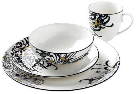 Denby Monsoon Chrysanthemum Dinnerware Box Set, 16 Piece