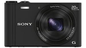 Sony DSC-WX300B Appareil Photo Numérique Full HD 3D 18 Mpix Zoom optique: 20x Noir