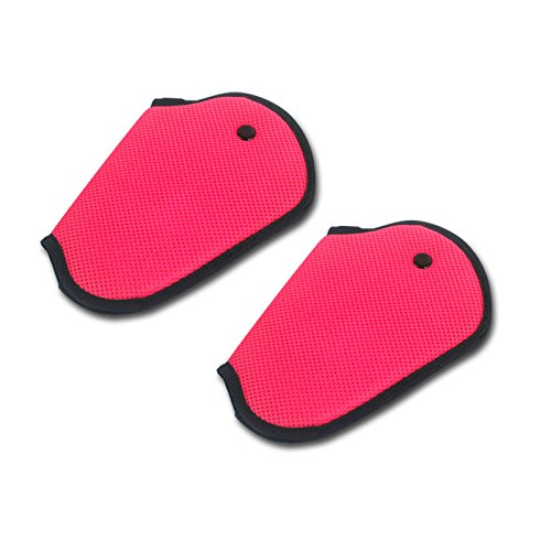 2pcs Car Child Safety Cover Harness Repositions Strap Adjuster Mash Pad Kids Seat Belt Seatbelt Clip Booster Adult Children Seat Belt Clips (pink 2pcs)