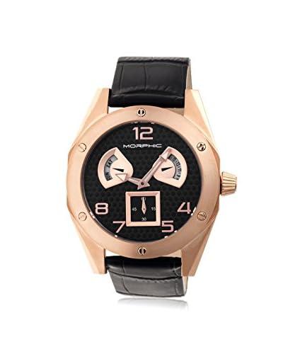 Morphic Men's M42 Series Rose-Tone/Black Leather Watch
