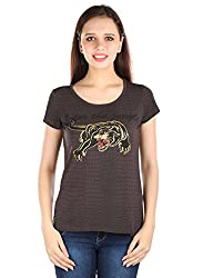 Fritzberg BodyFit Stretch Brown Round Neck Top
