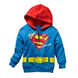 "DC Comics Superman Toddler Full Zipper Hoodie 4T ""Pow"""