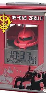 リズム時計[シチズン]ガンダム MS-06S おしゃべりシャア専用ザク音声目覚し時計8RDA44RH01赤デジタル