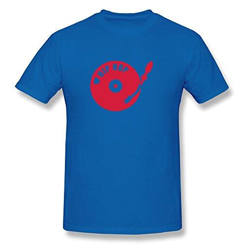 Male Dj Hip Hop Slim Fit T-Shirt Size M Color Royalblue