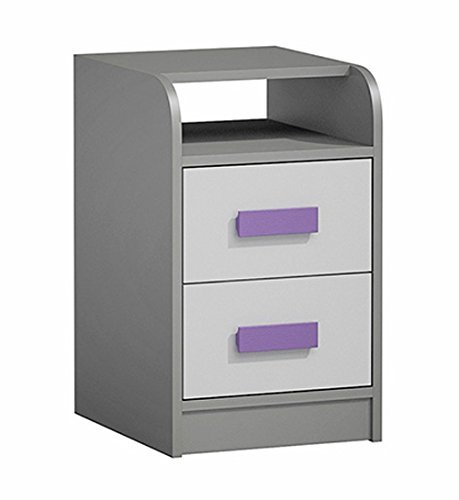 Schreibtisch Container 20159 40cm anthrazit / weiß – Farbe der Griffe wählbar (blau) günstig kaufen