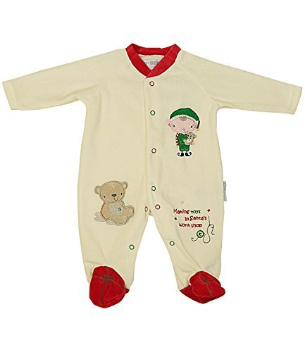 Nursery Time Baby Christmas Velour Sleepsuit Footie Making Toys NB - 6 Months
