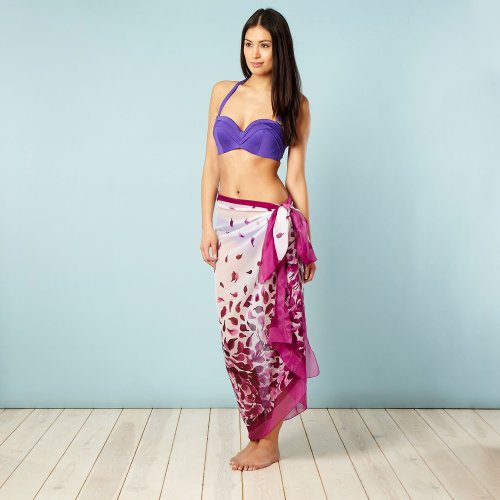 Beach Collection Purple Petals Sarong