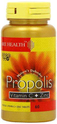 Bee Health Propolis Vitamin C and Zinc - Pack of 60 Capsules